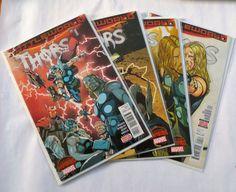 Thor's Marvel Comics 2015 Wholesale Lot 1-4 Battle World Secret Wars