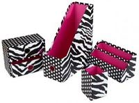 Cute zebra organization- <3 these! I'm thinking of going with this print in my classroom next year!