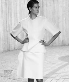visual optimism; fashion editorials, shows, campaigns & more!: minimal: athena wilson by manolo campion for harper's bazaar mexico january 2014