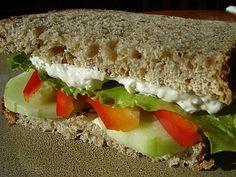 Veggie Sandwich with Garlic-Italian Spread