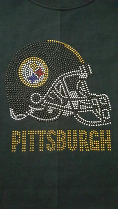 e3a0bf41e Rhinestone Pittsburgh Steelers Helmet Sparkly bling hot fix transfer DIY  applique