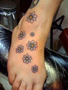053d6804a ink Daisy wrist flower tattoo wrist tattoo cute tattoo daisy tattoo ...  Watercolor Daisy