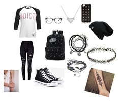 """""""Untitled #10"""" by crillings ❤ liked on Polyvore featuring beauty, WithChic, Converse, Vans and J.Crew"""