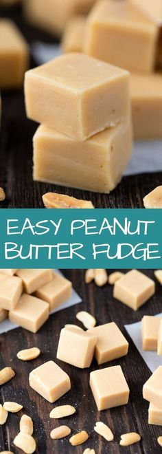 Peanut Butter Fudge This is so silky and smooth it melts in your mouth. It's to make and only requires four ingredients to produce a foolproof easy peanut butter fudge that is absolute perfection! Microwave Peanut Butter Fudge, Peanut Butter Recipes, Fudge Recipes, Candy Recipes, Cookie Recipes, Dessert Recipes, Drink Recipes, Recipe For Fudge, Peanut Butter Chocolate Fudge