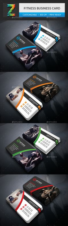 #Fitness #Business #Card - Creative Business Cards Download here: https://graphicriver.net/item/fitness-business-card/18474176?ref=alena994