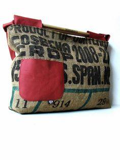 drummer coffee  recycled bag - guatemala cafe sack & drummer sticks