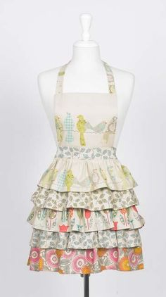 "denim apron pattern | One-Yard ""Use-it-all"" Apron pattern and tutorial by Erika at Miss Sews ..."