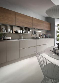 Modern I- and U-shaped kitchen - overview of existing advantages, restrictions ., Modern I- and U-shaped kitchen - overview of existing advantages, restrictions and solutions - new decor. Luxury Kitchen Design, Kitchen Room Design, Best Kitchen Designs, Kitchen Cabinet Design, Luxury Kitchens, Kitchen Colors, Home Decor Kitchen, Interior Design Kitchen, Cool Kitchens