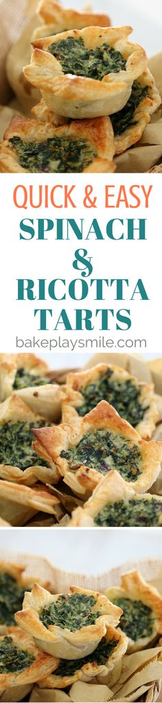 These Spinach & Ricotta Tarts with puff pastry make the most delicious little party food treat… or even a nice lazy lunch. 12 yo 15 minutes at 180 deg should be enough in Airfryer. Can be cooked in single metal muffin tins or similar.