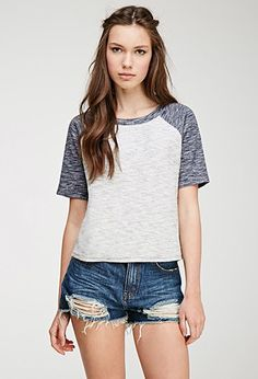 Marled Knit Raglan Sweater | Forever 21 - 2000115417