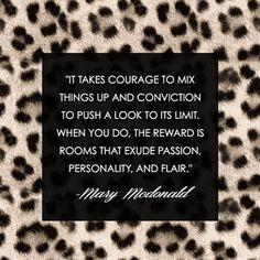 Mary McDonald interior design tip.