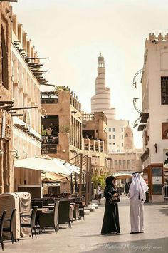 Lovely couple at Souq Waqif.