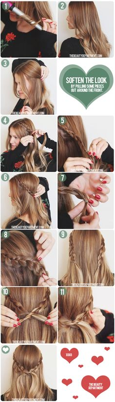 If you have Long, Thick Hair...try this Dutch Crown Braid #thebeautydepartment