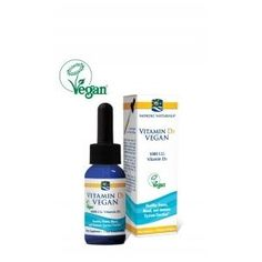 """""""Vitamin D3 Sourced from lichen, this plant-based liquid formula is in the natural form of vitamin D, and is better absorbed and utilized by the body. Helps regulate the body's levels of calcium and phosphorus, increases mineralization in the bones, and helps you avoid vitamin D deficiency. Other Ingredients: Medium chain triglycerides (from coconut oil), natural apple flavor, vitamin D3 (from lichen), d-alpha tocopherol acetate (a natural antioxidant)."""" from Just Eat Real Food"""