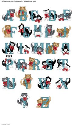 Cat Alphabets (individual cat cross stitch projects are listed below...down 19)