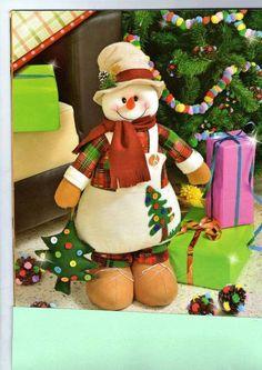 nieve Christmas Fabric, Christmas Love, Christmas Snowman, Handmade Christmas, Beautiful Christmas, Christmas Ornaments, Homemade Christmas Decorations, Bazaar Crafts, Snowman Crafts