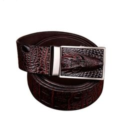 Cheap belt original, Buy Quality leather belts for men directly from China brand genuine leather belt Suppliers: COWATHER 2016 good quality cow genuine leather belts for men alligator pattern automatic buckle mens belt original brand Der Gentleman, Gentleman Style, Leather Belts, Cow Leather, Men's Belts, Leather Craft, Brown Fashion, Mens Fashion, Style Fashion