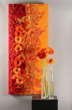 Bella Fiori designs flowers for weddings in Washington :: Seattle - Everett: Hitomi Gilliam Creative Flower Arrangements, Floral Arrangements, Art Floral, Flower Curtain, Corporate Flowers, Floral Event Design, Flower Show, Orange Flowers, Ikebana