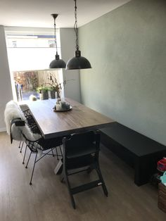 Couch Dining Table, Table And Chairs, Table Bench, Furniture Plans, Table Furniture, Diy Interior, Living Room Grey, Modern Kitchen Design, New Homes