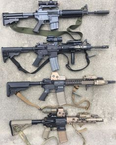 US Special Operations carbine clones going back to the 1970 Son Tay prison raid. A Colt 653 Carbine) would really round out the collection. Ninja Weapons, Weapons Guns, Guns And Ammo, M4a1 Rifle, Assault Rifle, Armas Airsoft, M4 Carbine, Battle Rifle, Military Weapons