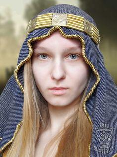 Vita Antiqua - Semigalian tribe female headdress (IX-XII century, Viking Period or Late Iron Age). Author of the reconstruction - archaeologist PhD Daiva Steponavičienė, Lithuania.