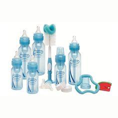 Kit de biberones Dr. Brown's Paquete recién nacido Azul *Hasta agotar existencias* Su tecnología de ventilación crea un efecto de presión que elimina la oxidación.