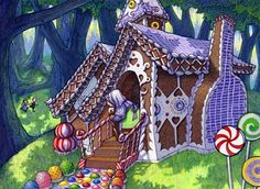 gingerbread witch houses - Google Search