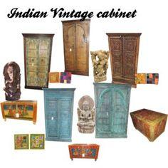 Antique Furniture: ANTIQUE INDIAN STORAGE CABINET