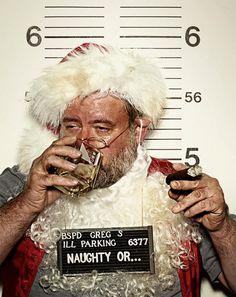 Unfortunate Funny Mug Shots: Santa Mug Shot. Bad Santa, Naughty Santa, Christmas Humor, Christmas Time, Dark Christmas, Magical Christmas, Photo Humour, Funny Boy, Mug Shots