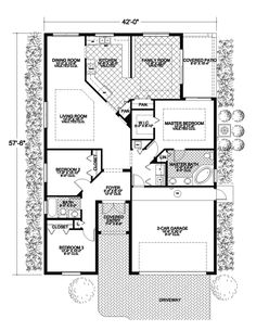 This would fit on site of current ranch house.  Even has separate living room and family room plus view of ranch from dining and family room.  Bedroom three as study.  Now just need stairs to basemebt.