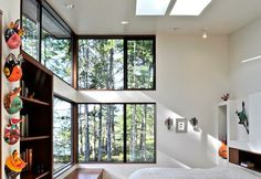 windows view bedroom