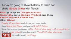 Google Sheet Tutorial | MyTechBrain | mickymesh