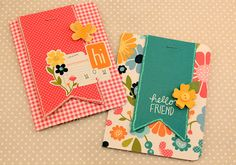 Handmade Cards using the Sunny Side Collection by Pebbles Inc. and created by Pebbles In My Pocket