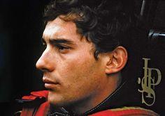 Race car driver Ayrton Senna.
