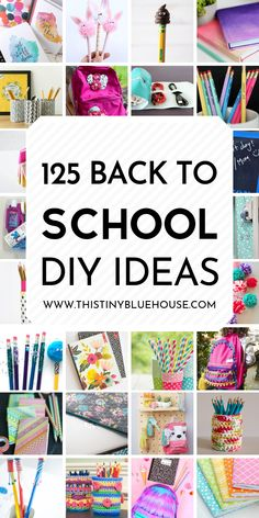 100+ BEST back to school DIY ideas and hacks. From notebooks to locker organization this post is your one stop shop for everything back to school. #backtoschool #DIYbacktoschoolideas #DIYschoolsupplies #Backtoschooldiy #backtoschooldiyideas #diysuppliesbacktoschool Diy School Supplies, Diy Supplies, Locker Organization, Locker Storage, Back To School Crafts, Dollar Store Hacks, Diy Papier, Good Tutorials, Diy Slime