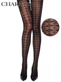 Charnos Diamond Stripe Tights - Tights, Stockings, Shapewear and more - MyTights.com - The Online Hosiery Store