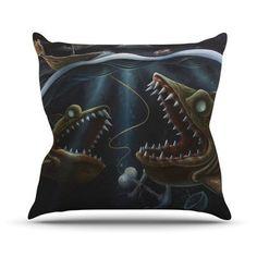 KESS InHouse Sink or Swim Outdoor Throw Pillow