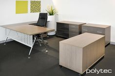 Polytec office furniture to make working from home more organised. Office Furniture, Office Desk, Home Office, Panel Doors, Storage Solutions, Corner Desk, Photo Galleries, Entertaining, Artisan