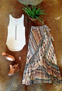 SANTA CRUZ MAXI-SKIRT in boho style, in bohemian style, in modern boho style, in gypset style, in gypsy style and in festival style Boho Fashion Summer, Trendy Fashion, Bohemian Fashion, Style Fashion, Bohemian Summer, 50 Fashion, Fashion Today, Fashion Spring, Modern Fashion