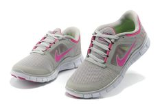 Nike Free Run 3 Womens Size 9 Sport Grey Reflect Silver Pure Platinum Polarized Pink