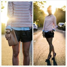 Blogger Wendy Gilmour sports a #Boden breton in the sun.