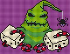 """Oogie Boogie """"Snake Eyes"""" - The Nightmare Before Christmas Perler Bead Pattern"""