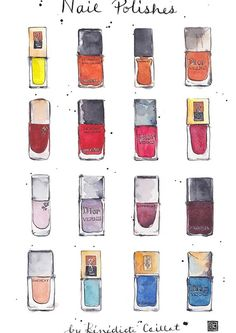 Art Print of Nail Polishes - for sale on Etsy