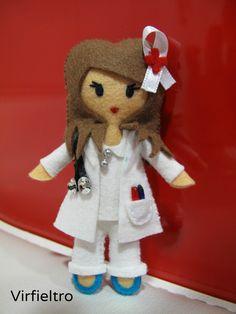 enfermera broche fieltro - Buscar con Google