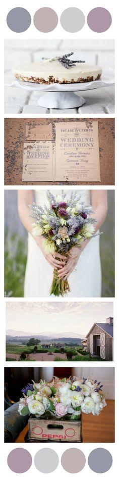 Lavender Wedding Color Inspiration - Rustic Wedding Chic