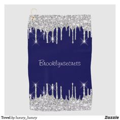 Towel Gray Shower Curtains, Custom Shower Curtains, Glitter Home Decor, Golf Towels, Bridal Beauty, Modern Fashion, Blue And Silver, Girly, Monogram