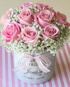 Pretty pink roses and baby's breath. 2019 Pretty pink roses and baby's breath. The post Pretty pink roses and baby's breath. 2019 appeared first on Flowers Decor. Flower Box Gift, Flower Boxes, Beautiful Rose Flowers, Pink Flowers, Pretty Roses, Pink Rose Flower, Cactus Flower, Exotic Flowers, Yellow Roses