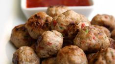 Thai Spiced Mini Chicken Meatballs (paleo and gluten free)