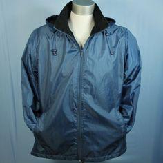 Mens 2XL Totes Fleece Lined Rain Coat Zip Off Hood Blue Travel Golf Jacket XXL #Totes #Rainwear