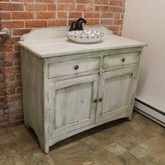 Custom Painted Bathroom Vanity From Reclaimed Barn Wood